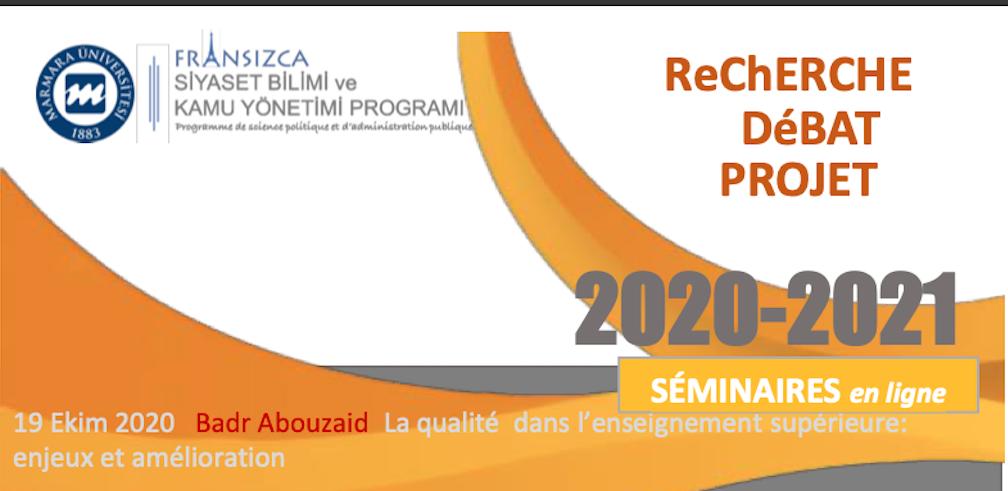 Recherche Débat Projet 2020-2021
