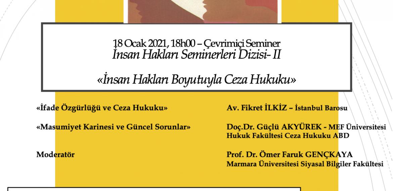 İnsan Hakları Seminerleri Dizisi - II (18.01.2021 - 18.00)